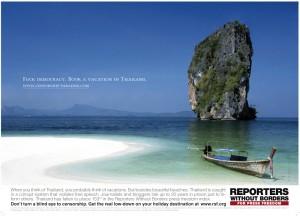 """Campagne """"tourisme"""" pour Reporters sans frontières"""